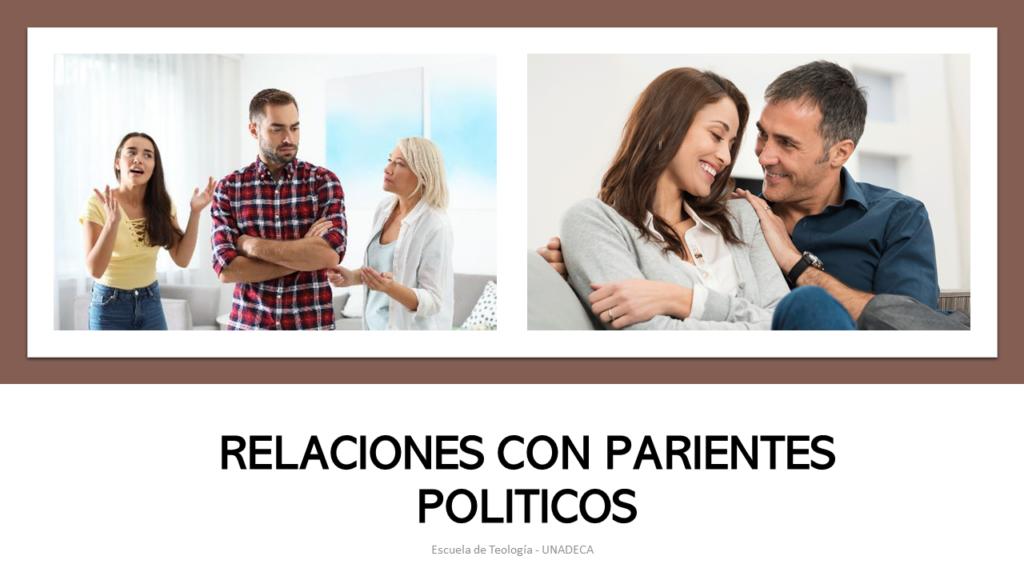 Relaciones con parientes políticos