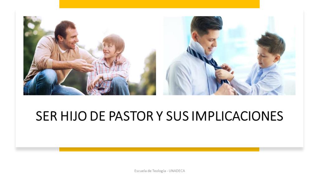 Ser hijo de pastor y sus implicaciones